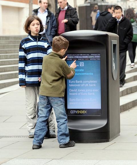 イギリス・ロンドンに登場予定の「ハイテクゴミ箱」