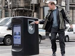 ロンドンの防爆仕様ゴミ箱イメージ