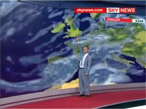 イギリスを指しているFrancis Wilson氏。ところが指した先のパネルが……