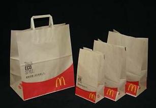 新たに導入する紙の手さげ袋と紙袋3種