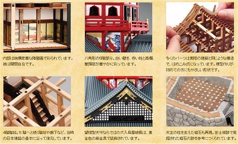各パーツの特徴を公式サイトから。偉大な歴史上の人物、織田信長にふさわしいダイナミックで細やかな作り。