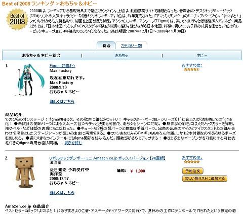 Best おもちゃ&ホビー of 2008