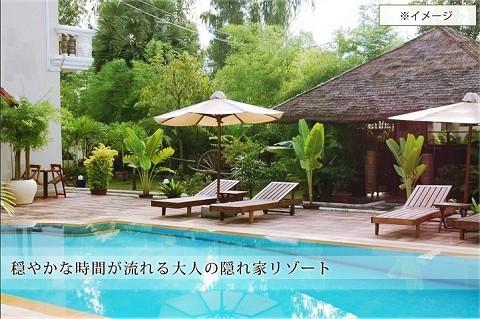 福袋の中身の一つ、カンボジア アンコール・ワットのリゾートホテル。宿泊パックではなく、ホテル丸ごと。
