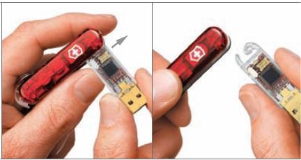 USBメモリ部分は取り外しが可能