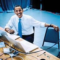 オバマ氏とインターネットイメージ