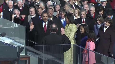 大統領就任式の動画。