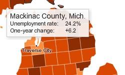 ミシガン州のマキナック郡イメージ