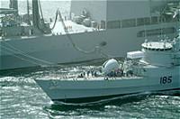 海上自衛隊の補給支援活動イメージ