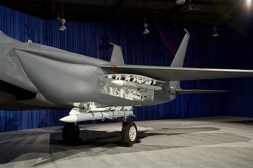 F-15SE(F-15 Silent Eagle)。写真で確認した限りでは複座型