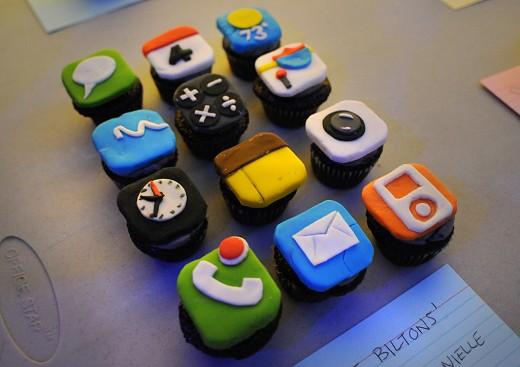 iPhoneなカップケーキ