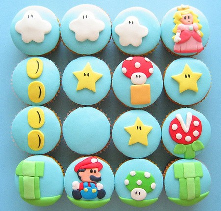 ゲーム関連のカップケーキ