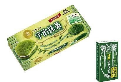 デセール・ドール<宇治抹茶>と森永抹茶キャラメル