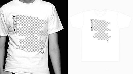 フォトショップの消しゴム機能Tシャツ