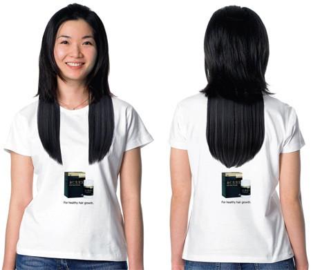 黒の長髪Tシャツ