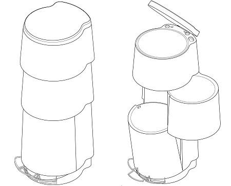 3種類の区分わけが出来るゴミ箱