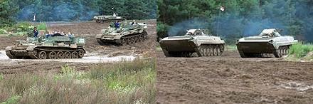 T-55(左)とBMP(右)