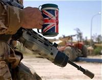 イギリス兵と紅茶イメージ