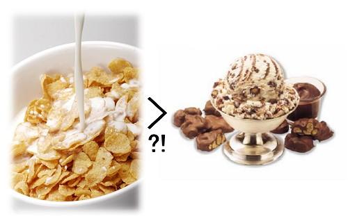 アイスクリームよりもシリアルの方が糖分が多い!?