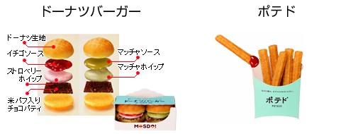 ミスタードーナツ側発売のドーナツバーガーとポテド