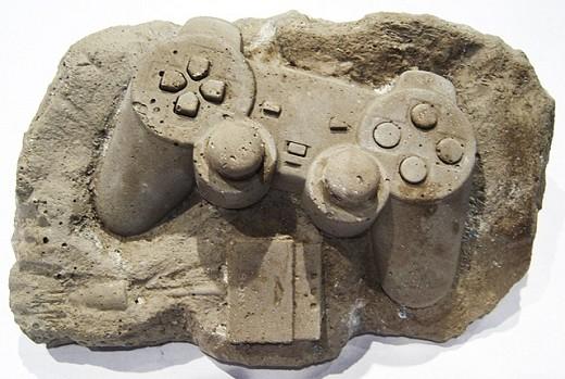 プレイステーションコントローラーな化石。