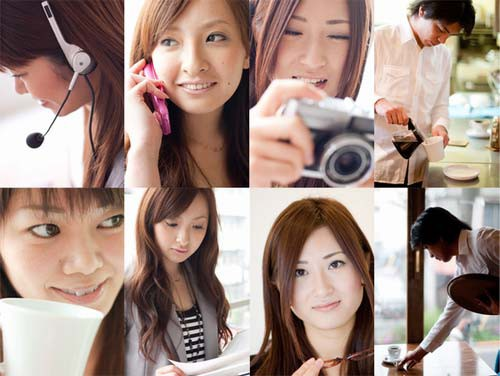 今回追加された人物モデル写真(一例)