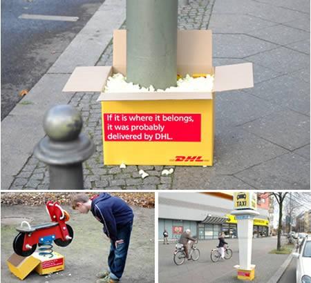 「DHLはあなたのそばに」的広告