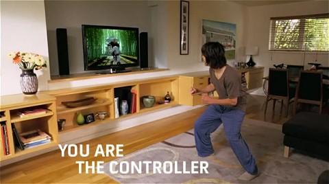 Xboxのモーションセンサー技術採用によるコントローラー「Project Natal」のイメージ動画。