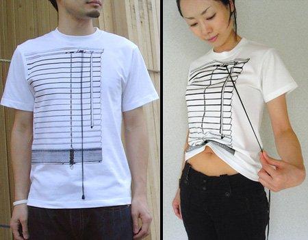 見た目はブラインド、実際にもブラインドっぽいTシャツ。
