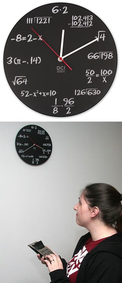 数学クイズな時計(Pop Quiz Math Clock)