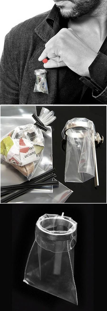 ハンディゴミ箱ピン「garbage pin」