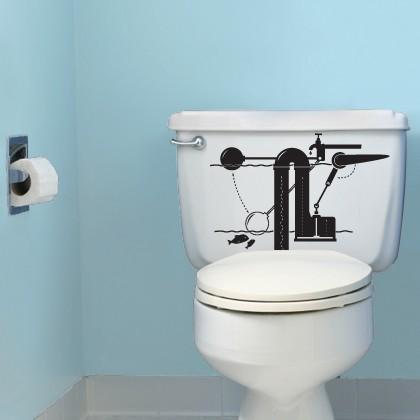 トイレの貯水タンク用ステッカー。味気ないトイレもちょっとおしゃれに。