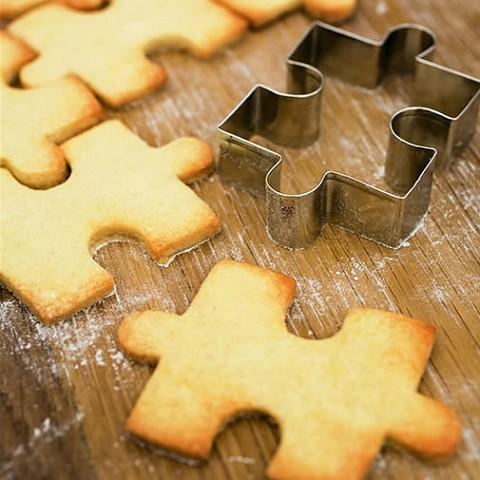 ジグゾーパズルなクッキー型、Jigsaw Cookie Cutter