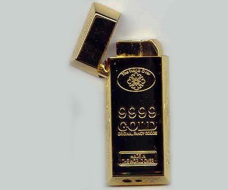 金のインゴットのライター