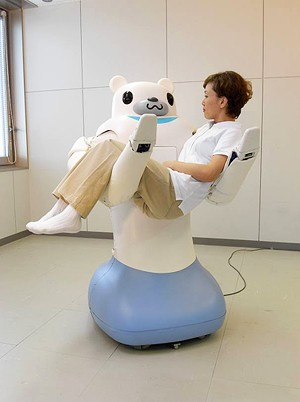 介護支援ロボット「RIBA(Robot for Interactive Body Assistance;リーバ)」。