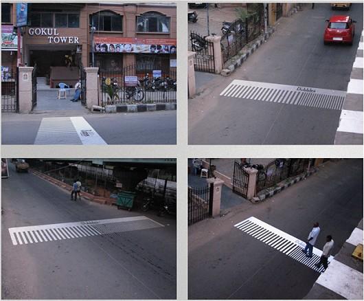 くし型横断歩道