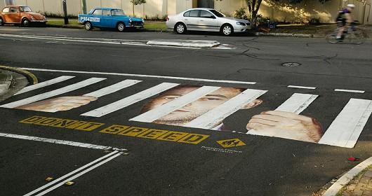 鉄格子型横断歩道