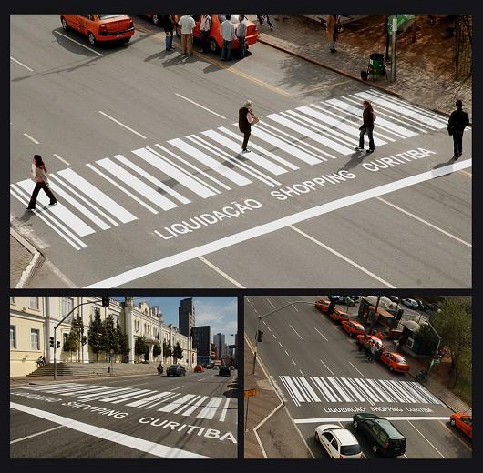 バーコードな横断歩道