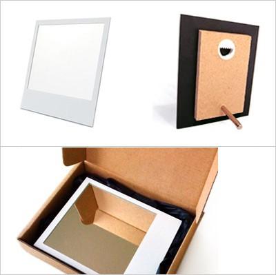 ポラロイド写真な鏡