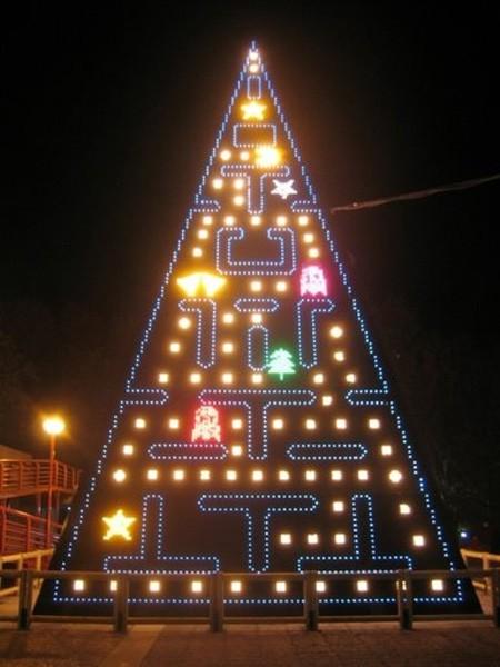 パックマンなクリスマスツリー。
