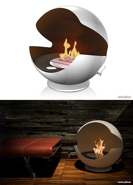 パックマンっぽい暖炉