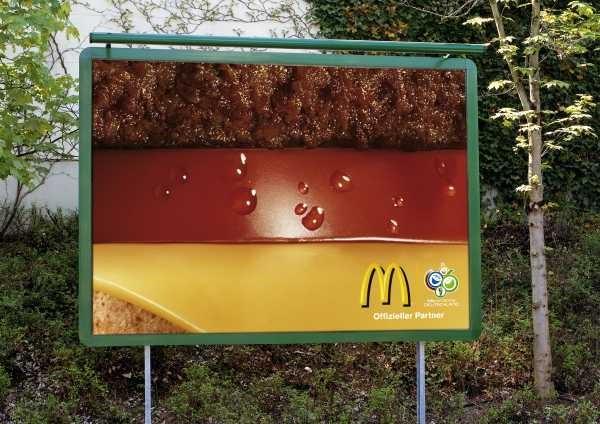 ドイツの国旗なハンバーガーの断面