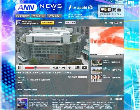 ANNニュースチャンネル。