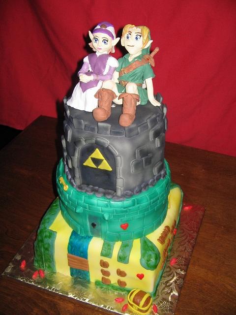 「ゼルダの伝説」なウェディングケーキ