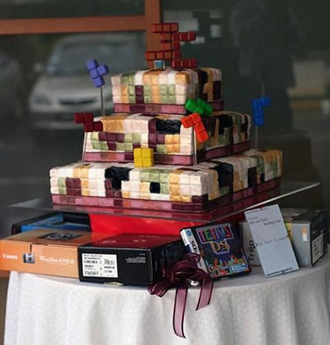 「テトリス」なウェディングケーキ