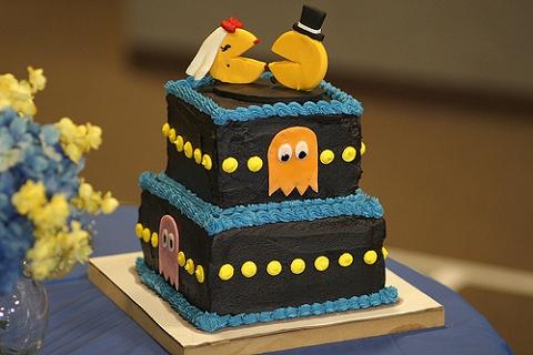 「パックマン」なウェディングケーキ。