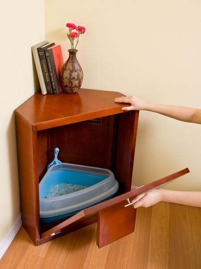 Corner Litter Cabinet