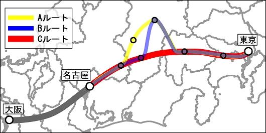 検討されているルート(Wikipediaより抜粋)