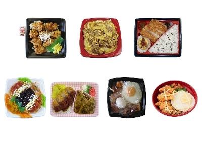 今回発売されるクルー弁当。上段左より、北海道:ザンギソース丼(450円)、東北:十和田バラ焼き弁当(498円)、関東:信州名物