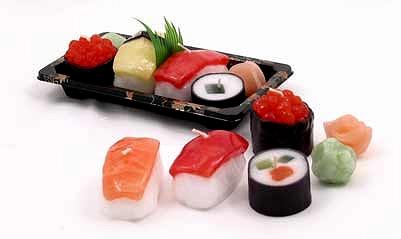 お寿司のろうそく