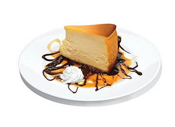 「アメリカで最強なデザート」Romano's Macaroni GrillのNew York Cheesecake with Caramel Fudge Sauce